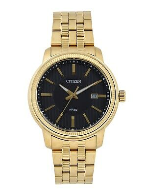 Citizen Quartz Mens Dress Watch WR 50M BI1082-50E Gold Plated Steel UK Seller • 129.95£