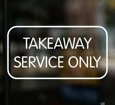 £3.99 • Buy TAKEAWAY SERVICE ONLY Chip Shop Sign Window Sticker Cafe Pub Restaurant Chinese
