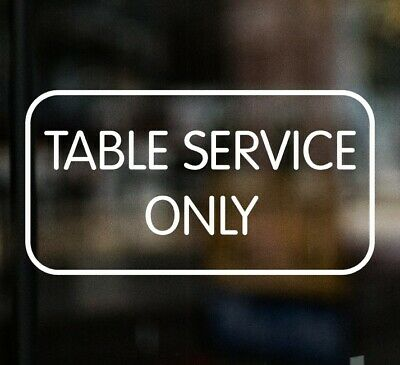 £3.99 • Buy TABLE SERVICE ONLY Pub Restaurant Bar Chip Shop Sign Window Sticker Cafe Hotel