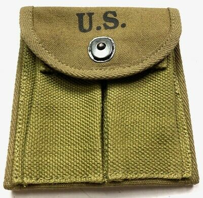 $18.36 • Buy Wwii M1 Carbine Rifle 15rd Butt Stock Ammo Pouch-od#3