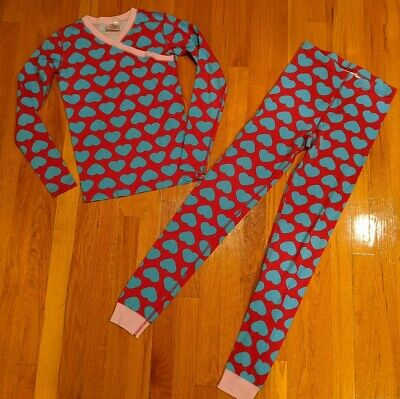 $9.99 • Buy EUC Hanna Andersson Girls 2-Piece Cotton Pajamas Set, Size 14 (160cm)