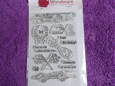 Woodware  RACING CARS  Clear Stamps • 3.25£