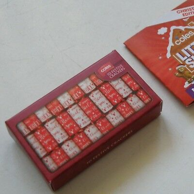 $1.73 • Buy Coles Christmas 10-crackers Box Little Shop Collectable Toy & Leaflet, Near-mint