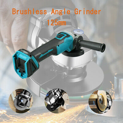 5inch Cordless Brushless Angle Grinder 18V Tool Electric Machine Stand Polisher • 40.49£