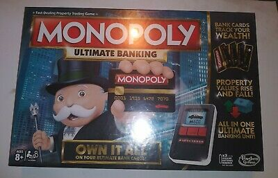 $62.99 • Buy MONOPOLY Hasbro Ultimate Banking Board Game Family And Kids Factory Sealed NEW