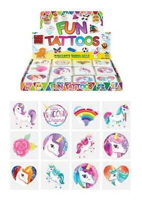 £1.29 • Buy UNICORN Temporary Tattoos Girls Childrens Novelty Kids Party Loot Bag Fillers