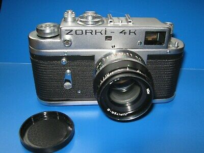 Vintage Zorki 4k Camera  + Jupiter 8 2/50 Lens Original Case. Low Starting Price • 35£