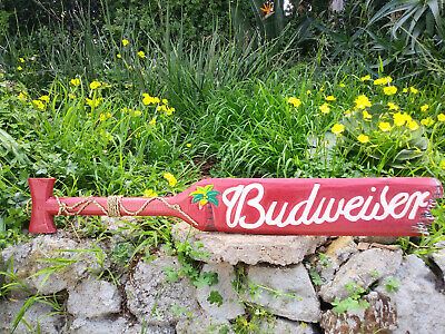 $ CDN58.43 • Buy Budweiser Beer Wood Paddle Beer Sign Nautical Tiki Bar Sign Pub Man Cave 39