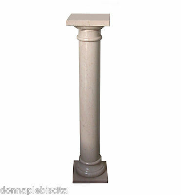 Column IN Marble Botticino Antiques Classic Design Vintage Old Marble Column • 471.16£