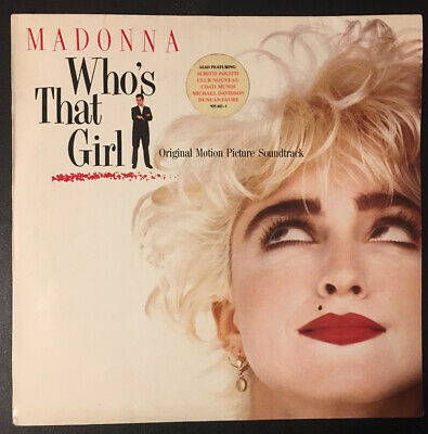 MADONNA - WHO'S THAT GIRL - Vinyl 12  LP OST 1987 SIRE WX102 VG/EX • 9.99£