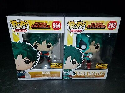$35 • Buy Funko Pop Set My Hero Academia Hot Topic Battle Deku # 252 And Deku #564