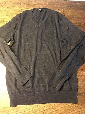 AU10 • Buy Uniqlo Charcoal Wool Jumper Pullover, Size M