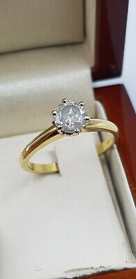 Stunning 18ct Gold Diamond Solitaire Ring 0.85ctw • 98£