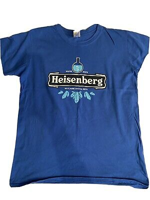 Qwertee Tee T-shirt Blue Breaking Bad Heisenberg Heineken Logo Medium M Ex Cond • 1.99£