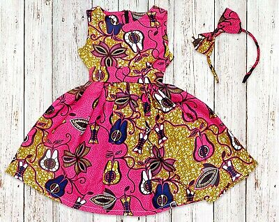 Girls African Print Ankara Dress, From Size 0 Months - 14 Years • 25£