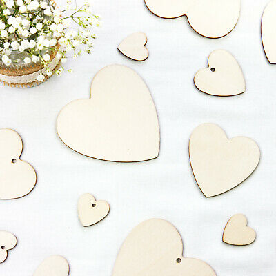 £3.79 • Buy Wooden Love Hearts For Weddings Small And Large Rustic Love Hearts Decorations