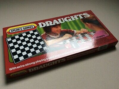 Spear's Games Draughts Game Vintage Set Boxed • 3.50£