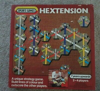Vintage Hextension Board Game. Spears Games. 100%. Great Condition. Rare Game.!! • 5£