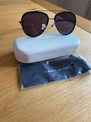 Genuine Marc Jacobs Ladies Sunglasses Black And Silver Bnib And Case • 45£