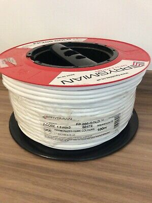 Prysmian FP200 Gold Protected Fire Alarm Cable 1.5mm 2 Core & Earth 100m White • 69£