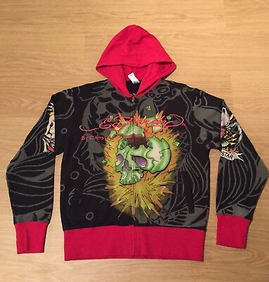 Brand New Men's Vintage Ed Hardy Hoodie. Black. Large. Authentic. RRP £200 • 170£