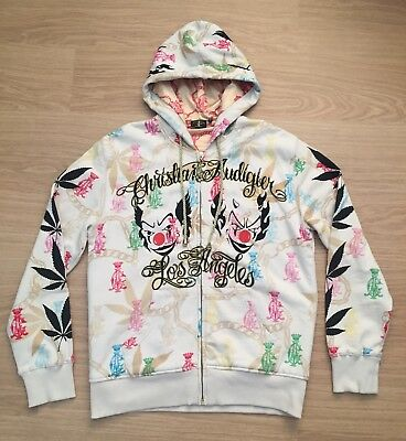 Once Worn Men's Vintage Christian Audigier Hoodie. Large. Ed Hardy Designer • 150£