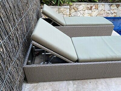 AU102.50 • Buy Outdoor Pool Furniture Corner Lounge And 2 Sun Lounges