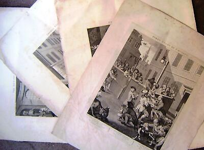 £60.50 • Buy Hogarth, Four Stages Of Cruelty, Set Of Large 18th Century Engravings
