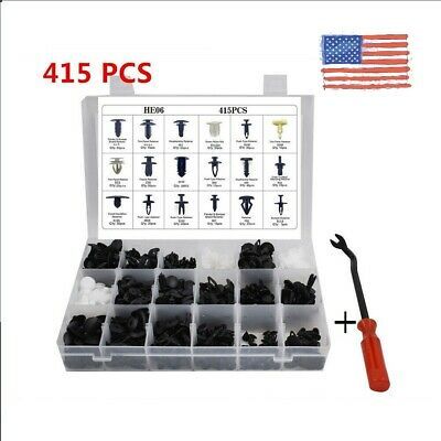 $13.33 • Buy 415Pcs Auto Car Body Plastic Push Pin Rivet Trim Fastener Clip Screwdriver Nylon
