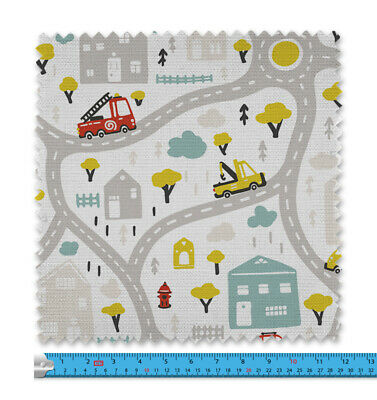 Baby City Map Fabric 21 Variations Price Per Metre LSFABRIC084 • 9.99£