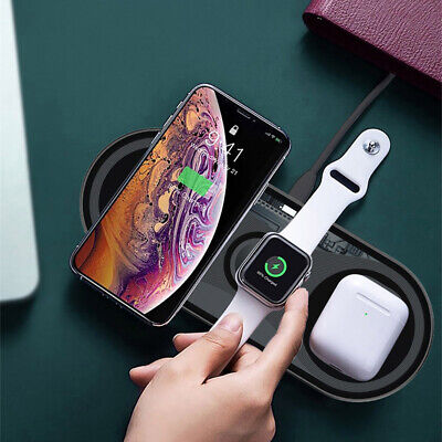 $ CDN25.55 • Buy 3 In 1 15W Qi Wireless Charger Pad For Apple Watch 5/4/3/2/1 AirPod IPhone 11 XS