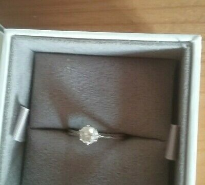 Beautiful 18ct Carat White Gold 0.25Ct Diamond Solitaire Ring Size P • 132£