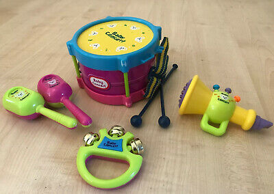 Kids Toy Drum Tambourine Shakers Trumpet Music Set Childs Children Percussion • 10.99£