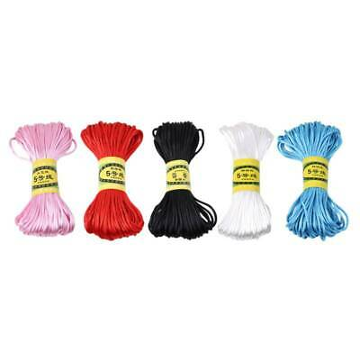 £2.21 • Buy Chinese Knot Braided Cord Macrame Hand-Knitted Cords Beading Thread String GA