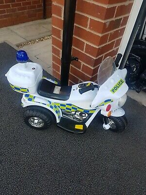 Kids Police Electric Bike Childs Ride On Buggy Motorbike - NOT WORKING • 5£