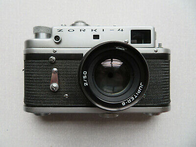 Zorki-4 Rangefinder Camera With Case & Jupiter-8 2/50 Lens - Untested • 10£