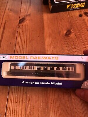 N Gauge Dapol GWR Great Western Collet Brake Coach Boxed Excellent Condition • 16£