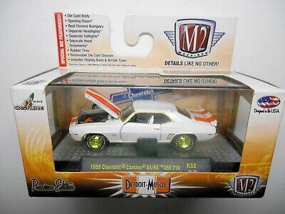 $28 • Buy M2 Detroit Muscle White 1969 Chevrolet Camaro Ss/rs Gold Chase By Castline