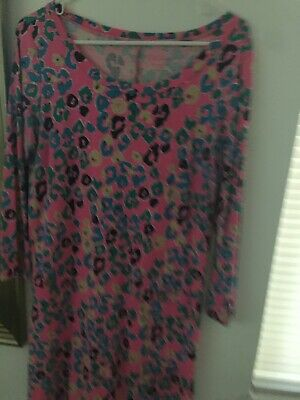 $16 • Buy Lilly Pulitzer Floral  Dress Size Large Cute Patterns Pink