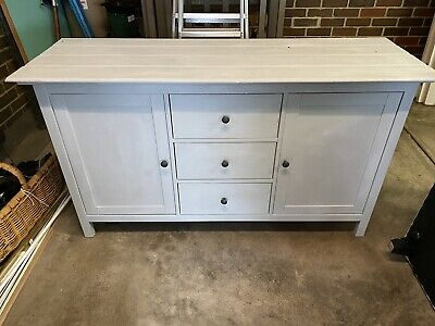 AU40 • Buy IKEA Side Board With Timber Panel Top Painted Grey