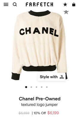 AU2125 • Buy Rare Vintage Ladies CHANEL Textured Logo Jumper Jacket