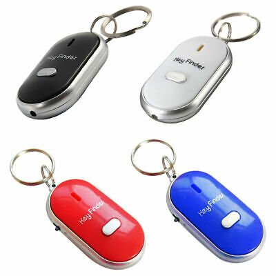 Whistle Lost Key Locator Finder Flashing Beeping Remote Chain LED Sonic Torch UK • 2.30£