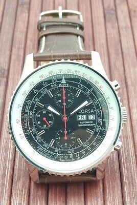 $499 • Buy Automatic Chronograph Watch From Lorsa Valjoux 7750 Clone Movement - New