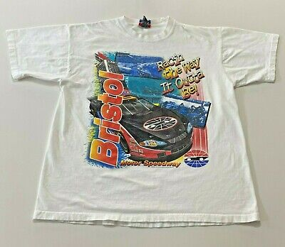 $ CDN33.82 • Buy Vintage Bristol Racing T-Shirt Size XL Double Sided Worlds Fastest Mile Nascar