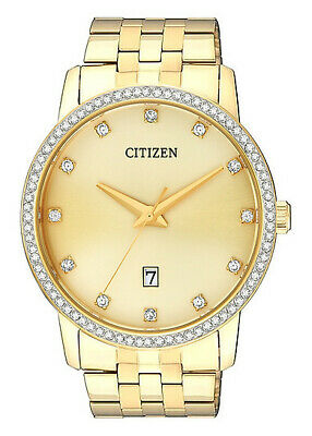 Citizen Quartz Unisex Dress Watch W.R 50M BI5032-56P Gold Plated Steel UK Seller • 139.95£