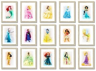Disney Princess Posters/Pictures Girls Bedroom A4 PRINT ONLY • 3.70£