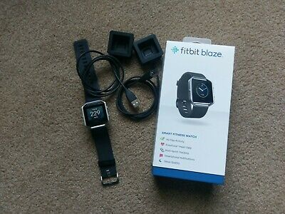 $ CDN116.68 • Buy Fitbit Blaze Black Smart Fitness Watch - Large With 2 Chargers - Excellent