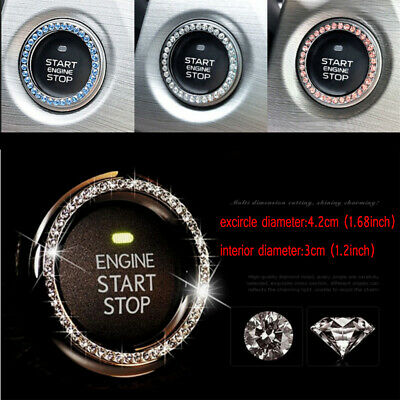 AU2.26 • Buy 1x Car Decorative Accessories Button Start Switch Diamond Ring Silver,Pink,Blue