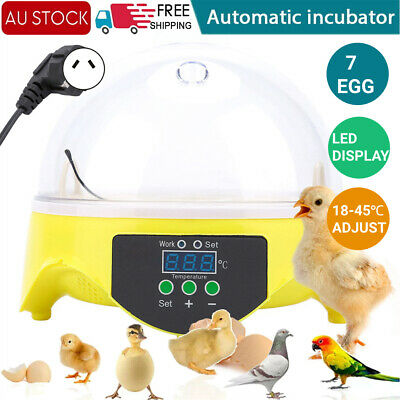 AU21.98 • Buy 7Egg LED Digital Incubator Chicken Duck Bird Poultry Hatcher Temperature Control