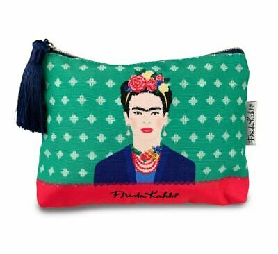 £14.95 • Buy Frida Kahlo Green Vogue Retro Large Cosmetic Makeup Wash Bag New With Tags
